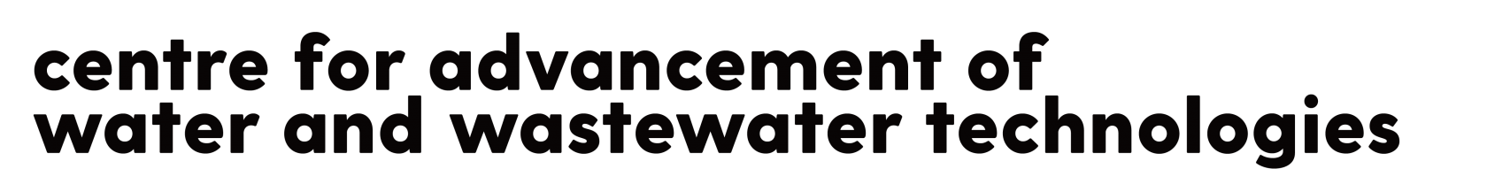 Centre for Advancement of Water and Wastewater Technologies CAWT full name logo